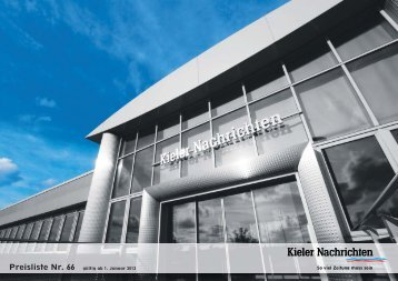 Mediadaten 2013 - Kieler Nachrichten
