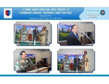 4 tamil nadu girls bn, ncc trichy-12 combined annual ... - Pmu.edu