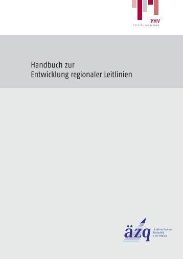 Handbuch zur Entwicklung regionaler Leitlinien - PMV ...