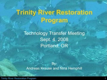 Trinity River Restoration Program