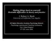 Presentation - The Higher Education Academy