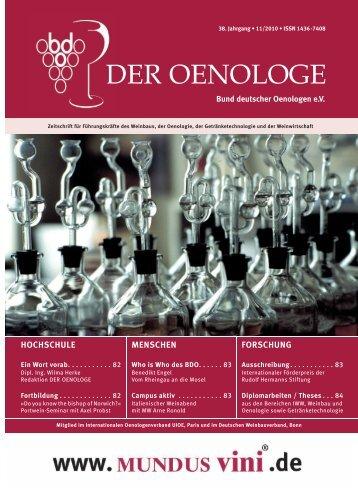 HOCHSCHULE - Bund Deutscher Oenologen eV