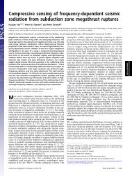 Compressive sensing of frequency-dependent seismic radiation ...