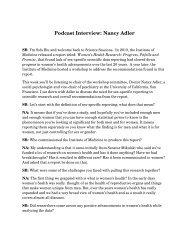 Podcast Interview: Nancy Adler
