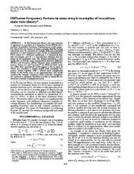 Diffusion frequency factors in some simple examples of transition ...
