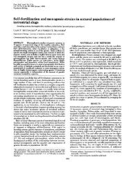 Self-fertilization and monogenic strains in natural populations of ...