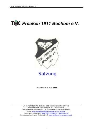 Preußen 1911 Bochum e.V. Satzung - DJK Preußen 1911 Bochum eV