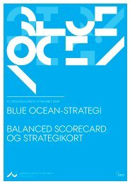 Blue ocean-sTraTegi Balanced scorecard og sTraTegikorT