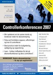 Controlerkonferencen 2007 - Per Nikolaj Bukh, professor i ...