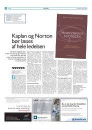 Kaplan og Norton bør læses af hele ledelsen - Per Nikolaj Bukh ...