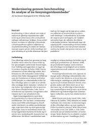 En analyse af tre forsyningsvirksomheder - Per Nikolaj Bukh ...