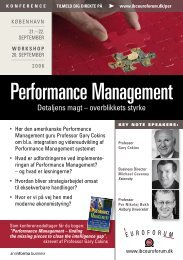 Performance Management - Per Nikolaj Bukh, professor i ...