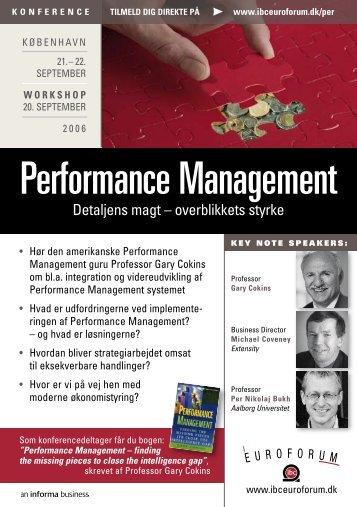 Performance Management - Per Nikolaj Bukh, professor i ...