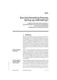 Kan benchmarking fremme læring og videndeling? - Per Nikolaj ...