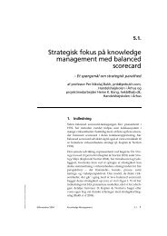 Strategisk fokus på knowledge management med balanced scorecard