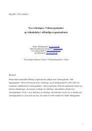 Nye erfaringer: Videnregnskaber og videnledelse i offentlige ...