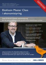 Eksklusiv Master Class i økonomistyring - Per Nikolaj Bukh ...