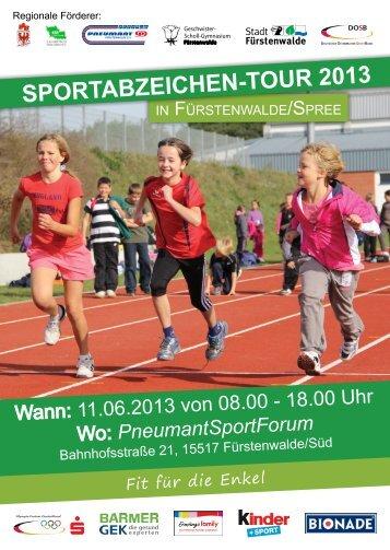 Sportabzeichen-tour 2013