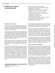 Leitlinien zur Langzeit- Sauerstofftherapie - Deutsche Gesellschaft ...