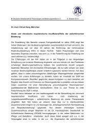 Akute und chronische respiratorische Insuffizienz/Rolle der ...