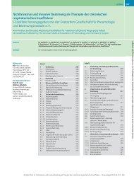 Nichtinvasive und invasive Beatmung als Therapie der chronischen ...