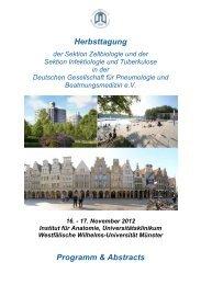 Herbsttagung Programm & Abstracts - Deutsche Gesellschaft für ...