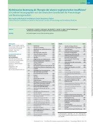 Nichtinvasive Beatmung als Therapie der akuten respiratorischen ...