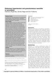 Pulmonary hypertension and granulomatous vasculitis in sarcoidosis