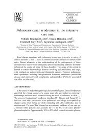 Pulmonary-renal syndromes in the intensive care unit