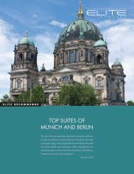 TOP SUITES OF MUNICH AND BERLIN - Elite Traveler