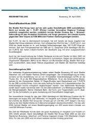Medienmitteilung Stadler Rail AG