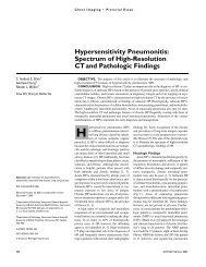 Hypersensitivity Pneumonitis: Spectrum of High-Resolution CT and ...