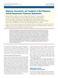 Diagnosis, Assessment, and Treatment of Non-Pulmonary Arterial ...