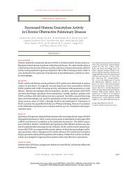 Decreased Histone Deacetylase Activity in Chronic Obstructive ...