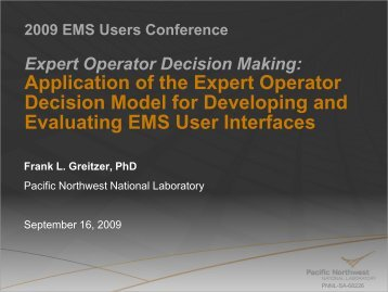 2009 EMS Users Conference Presentation - Pacific Northwest ...