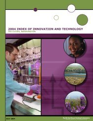 Tri-Cities, Washington Innovation and Technology Index - Pacific ...