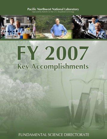 FY07 Fundamental & Computational Sciences Directorate Key ...