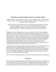 Biorefinery concept development based on wheat flour milling