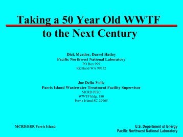 Taking a 50 Year Old WWTF to the Next Century - Pacific Northwest ...
