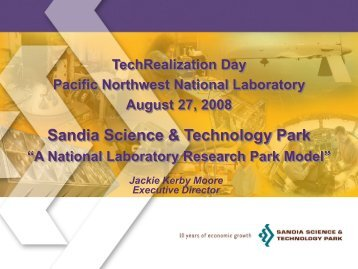 Sandia Science & Technology Park - Pacific Northwest National ...