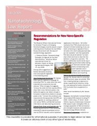 Nanotechnology Law Report (July 2008)