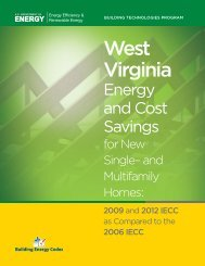 2009 and 2012 IECC - West Virginia Department of Commerce