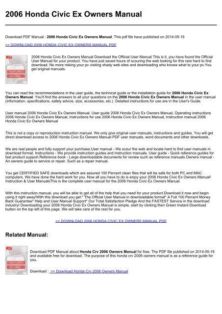 2008 honda civic repair manual download