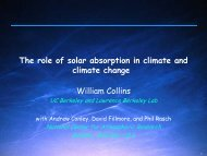 The role of solar absorption in climate and climate change