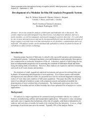 Development of a Modular In-Situ Oil Analysis Prognostic System
