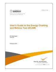 User's Guide to the Energy Charting and Metrics Tool (ECAM)