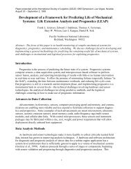 Development of a Framework for Predicting Life of Mechanical ...