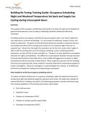 Building Re-Tuning Training Guide: Occupancy Scheduling: Night ...