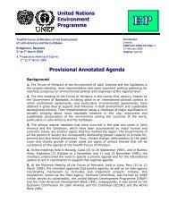 Provisional Annotated Agenda