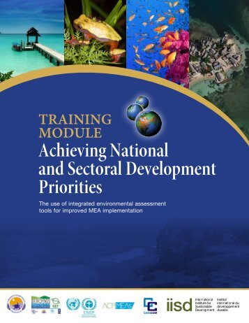 Achieving National and Sectoral Development Priorities - UNEP